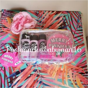 NWT PINK Merry Pinkmas Coco Faves Gift Set
